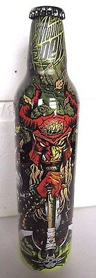 2008 Mountain Dew Green Label Art Aluminum Bottle Soda Can Hessian Henchman Full