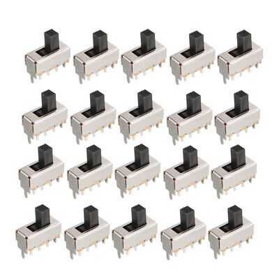 20Pcs 2 Position 3P SPDT Micro Slide Switch Latching Digital Product Switch