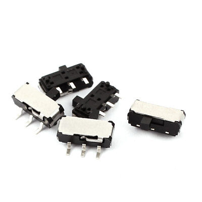 5 Pcs 2 Position Straight 3P SPDT Micro Slide Switch Latching Toggle Switch