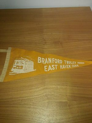 Branford Trolley Museum-East Haven, CT - Felt Pennant-Yellow