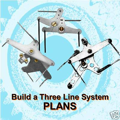 BUILD A 3 WIRE CONTROL LINE SYSTEM for MODEL AIRPLANES BUILDING NOTES on CD