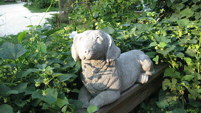 Beautiful Hand Crafted Concrete Dachshund Dog Statue