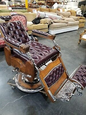 antique 1900's  wooden koken barber chair (restored)