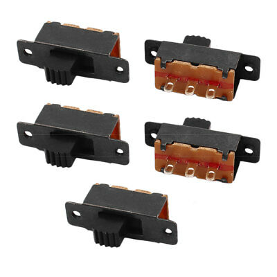 5 Pcs 2 Position 3P SPDT Micro Miniature PCB Slide Switch Latching Toggle Switch