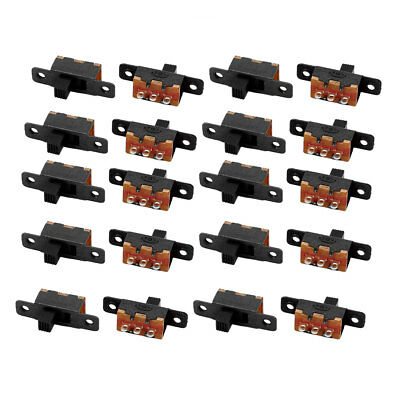 20Pcs SS-12F16 2 Position 3P SPDT Miniature Slide Switch Latching Toggle Switch