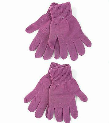 NEW Soothers Womens size O/S Winter Knit Gloves Lavender Purple Solid Sale DEALS