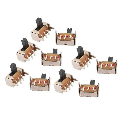 10Pcs DC50V 0.5A 2 Position 3P SPDT Micro Slide Switch Latching Toy Switch
