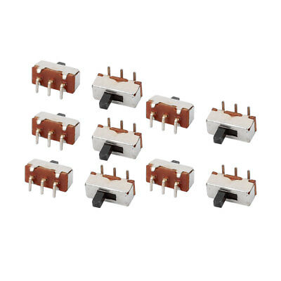 10Pcs DC50V 0.5A 2 Position 3P Terminals SPDT Slide Switch Latching Toy Switch