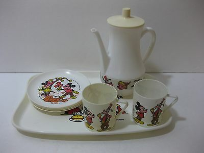 Vintage Walt Disney Mickey Mouse Suci Tea Set  Childs Toy plastic Made In Italy
