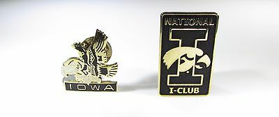 Gold Tone Pins with Iowa and National Iowa Club Logos