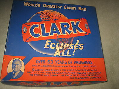 Vintage Clark Candy Bar Box Store Display Nice