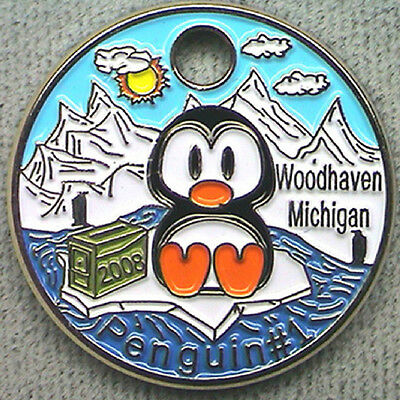 Penguin #1 2008 Pathtag GEOCACHING Pathtags Geocoin # 7581