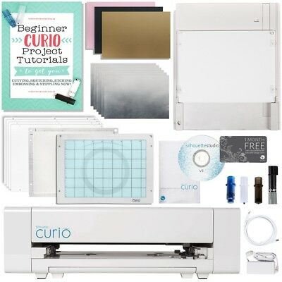 Silhouette Curio Digital Crafting Machine Metal Etching & Stippling Bundle
