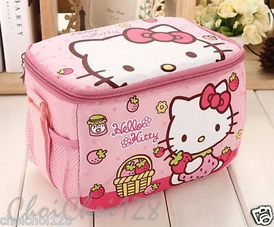 Hello Kitty School Picnic Insulated Cooler Lunch Bag Pink Strawberry KK85