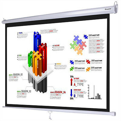 """Instahibit™ 120"""" 4:3 96"""" x 72"""" Manual Pull Down Projector Projection Screen"""