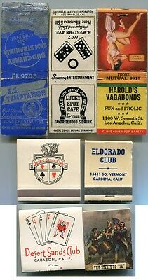 California Gambling Club Casinos  1940s/60s - 2 Matchbooks 3 Covers