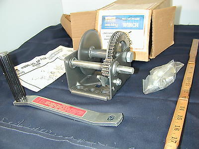 Hand Winch,800# 3.2:1 Ratio--New Old Stock--Wards--