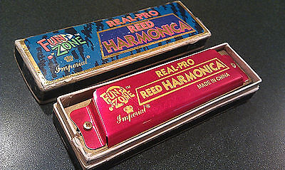 Vintage Harmonica Imperial Reed Real Pro box