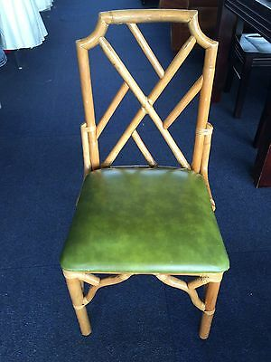 Cane Chinoiserie Dining Chairs Retro Vintage Midcentury