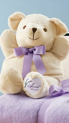 Partylite Simply Lavender Plush Bear With Removable Scented Sachet 14""