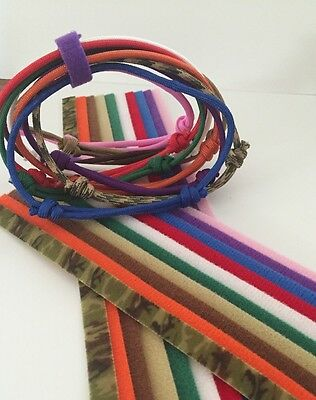 """10  Pack (10) Paracord & (10) Ea 8"""" & 14"""" Velcro®  Whelping Collars All Match!"""