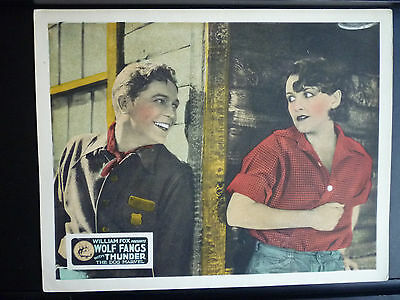 1927 Wolf Fangs - Exc. Cond. Lobby Card - Silent - Forest Ranger Romances Girl