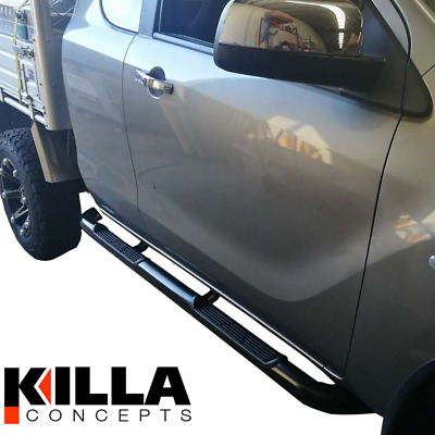2011-2016 Ford Ranger PX Stainless Steel Black OEM Side Step Running Board