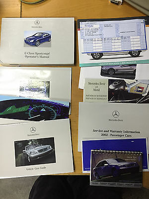 2002 Mercedes C-Class Sportcoupe Owners Manual And Case