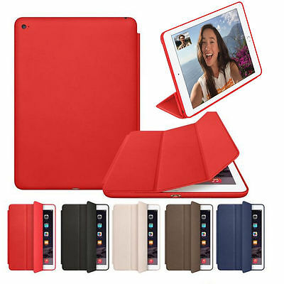 Genuine Leather Smart Stand Case Cover Wake for iPad34 Mini12 Air 2 Pro12.9