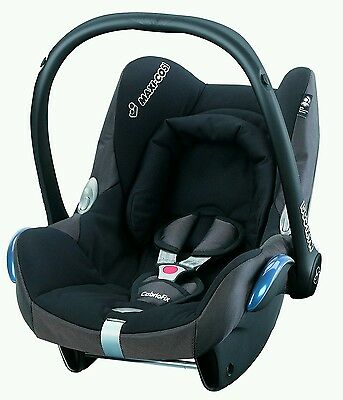 CabrioFix Group 0+ Car Black Seat Child Infant Carrier Travel free RaincoverUsed