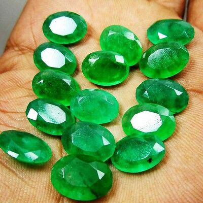100.00cts.+ Certified Natural Translucent Loose Colombian Emerald Gemstone Lot