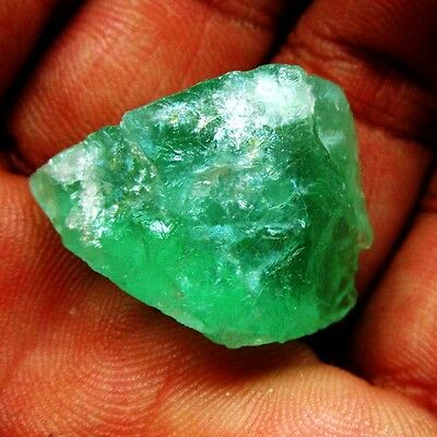 46.00Ct. Natural Untreated Green Fluorite Gemstone Mineral Rough ks 3086