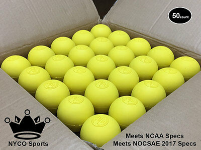 Bulk Lacrosse Balls (50) -Yellow- NCAA/NOCSAE Certified - Official Game Quality!