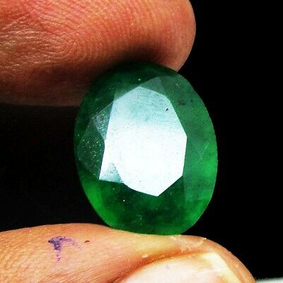 9.15Ct. Natural Certified Oval Cut Colombian Emerald Gemstone stone KS 5454