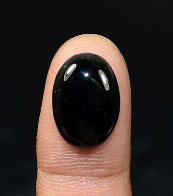 10.80 Ct. 100 % Natural Black Onyx  Oval Cabochon Loose Gemstones Ladylucklovers
