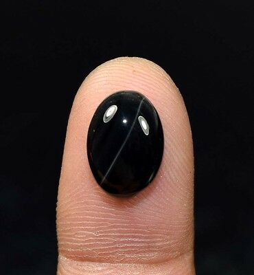 6.60 Ct. 100 % Natural Black Onyx  Oval Cabochon Loose Gemstones Ladylucklovers