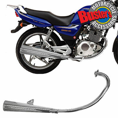 NEW Suzuki GS125 Replacement Chrome Full Complete Exhaust Silencer System