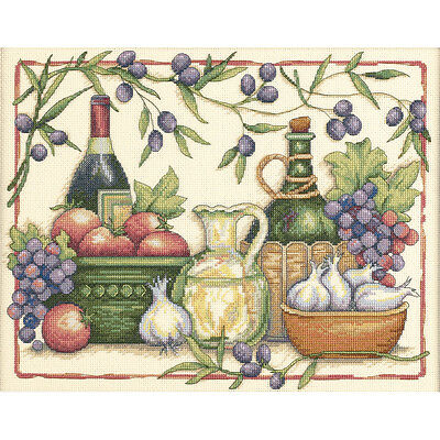 "Tuscan Flavors Counted Cross Stitch Kit-14""X11"""
