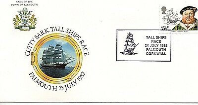 1982 Cutty Sark Tall Ships Race - Special Hand Stamp Fdc From Collection 7/18