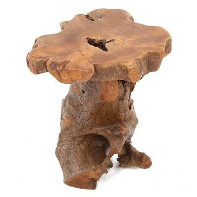 Teak Root Side Table/Hand Crafted/Solid Wood/Lamp Table/Plant Stand