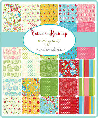 Patchwork/quilting Fabric Moda Charm Squares/packs - Caravan Round Up