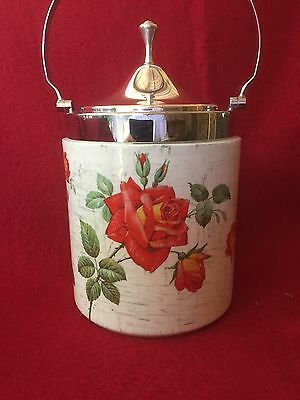 W R Midwinter (LTD) Staffordshire Biscuit Barrel (Made in England)