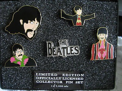 THE BEATLES ( 6-pins) OFFICIALLY LICENSED LIMITED EDITION 2001 HTF PIN SET