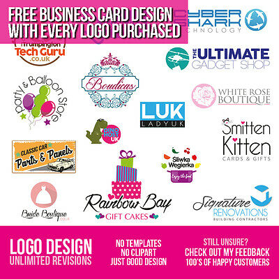 Logo Design - Bespoke Service - Unlimited Revisions - Quick & Cheap