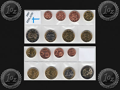 FINLAND complete EURO SET - 8 coins SET 2007 (1 cent - 2 Euro) UNCIRCULATED