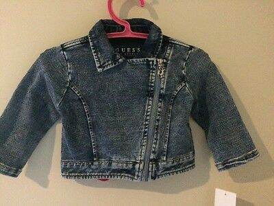 NWT Baby Girl GUESS Denim Jacket - Size 1 - RRP$69.95