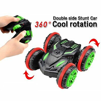 Turbo 2.4G RC Car Remote Control Amphibious Electric 360° Double Sided Stunt Car
