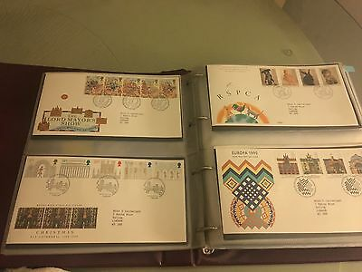 Royal Mail Great Britain First Day Cover Collection : 216 Covers from 1988-2006