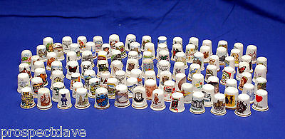 Collection of 100 Mixed Assorted China Thimbles No.1