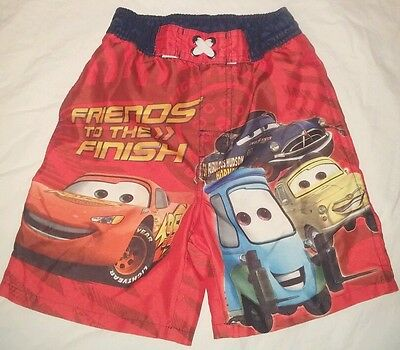 Authentic Cars Disney Pixar Swimsuit Trunks Shorts Boys Size 4T Very Gently Used